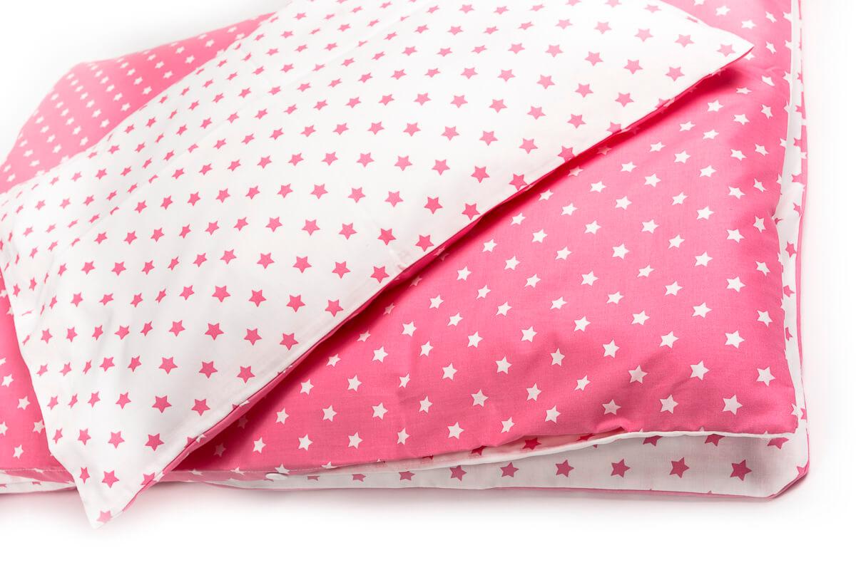 Povlečení bavlna hvězdičky růžové do kombinace