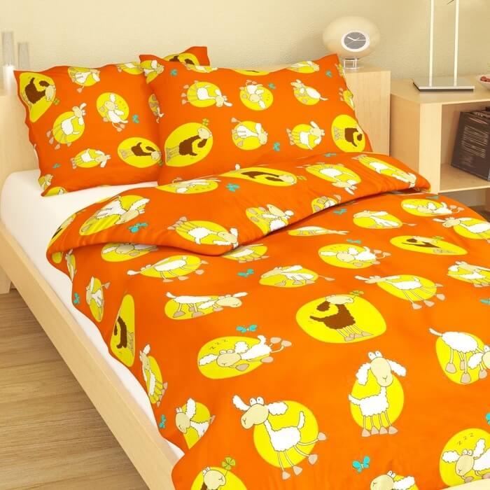Dětské povlečení bavlna ovečka oranžová