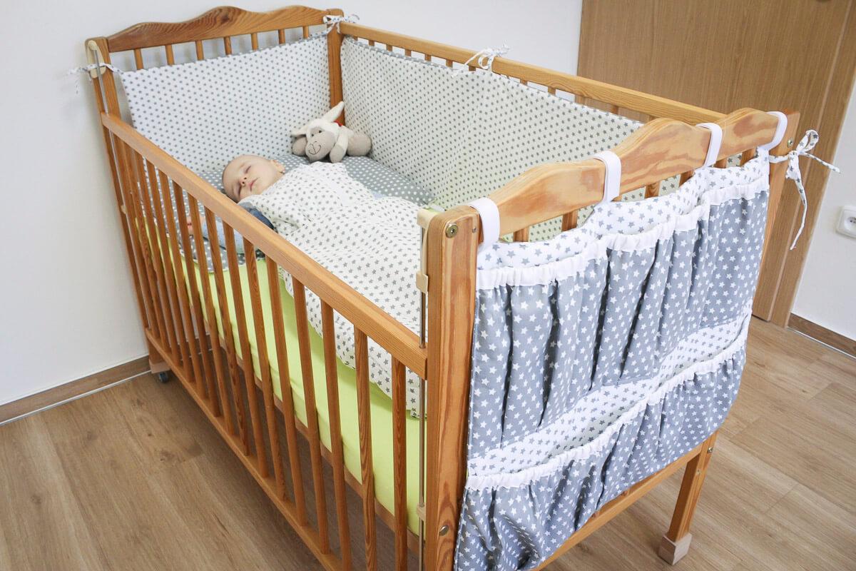 Dětský spací pytel hvězdičky šedé