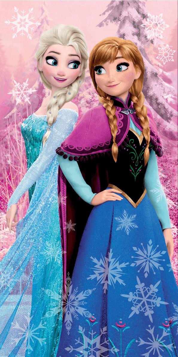 Osuška Ledové království Frozen Pink