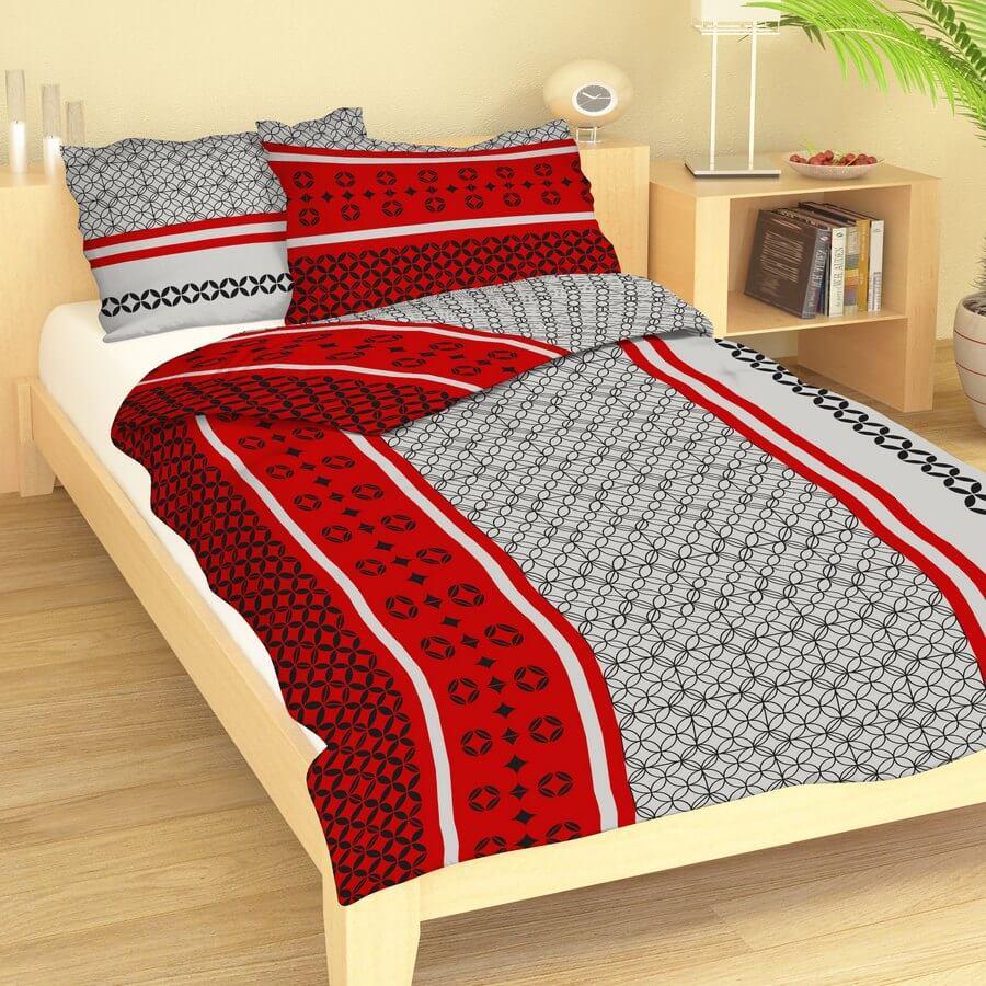 Bavlna ornamenty na červeno-šedé 9378-38