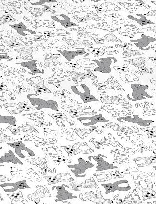 Dětské povlečení bavlna zvířátka šedá 213-123