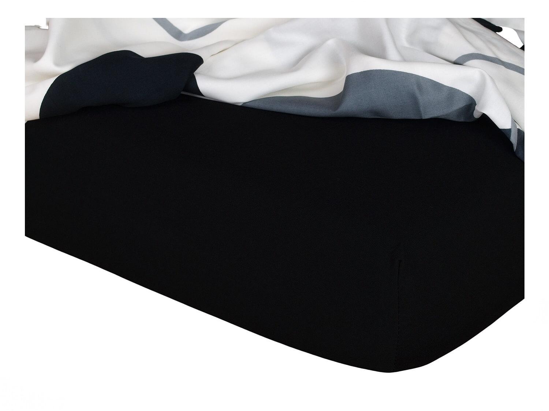 Jersey prostěradlo černá