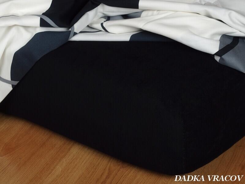 Froté prostěradlo černá 220 g