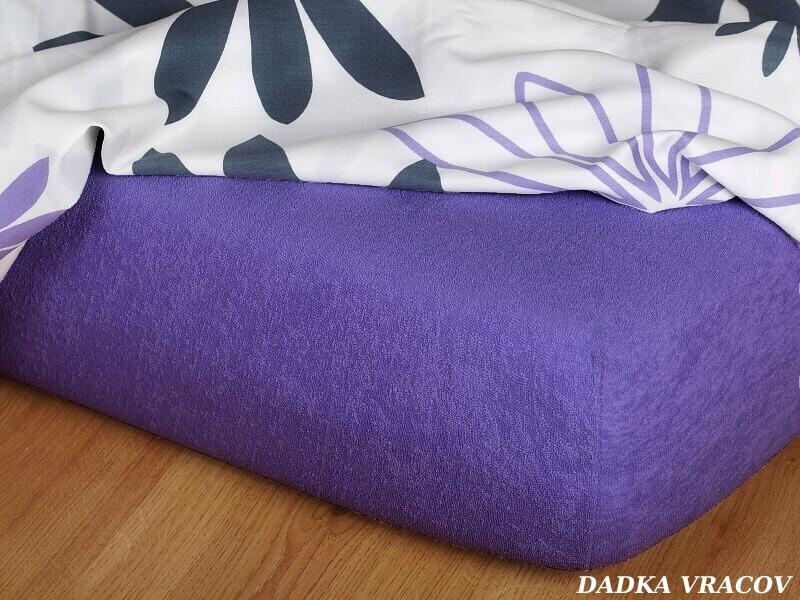 Froté prostěradlo purpur