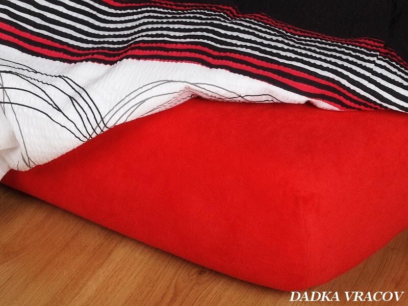 Jersey prostěradlo červená