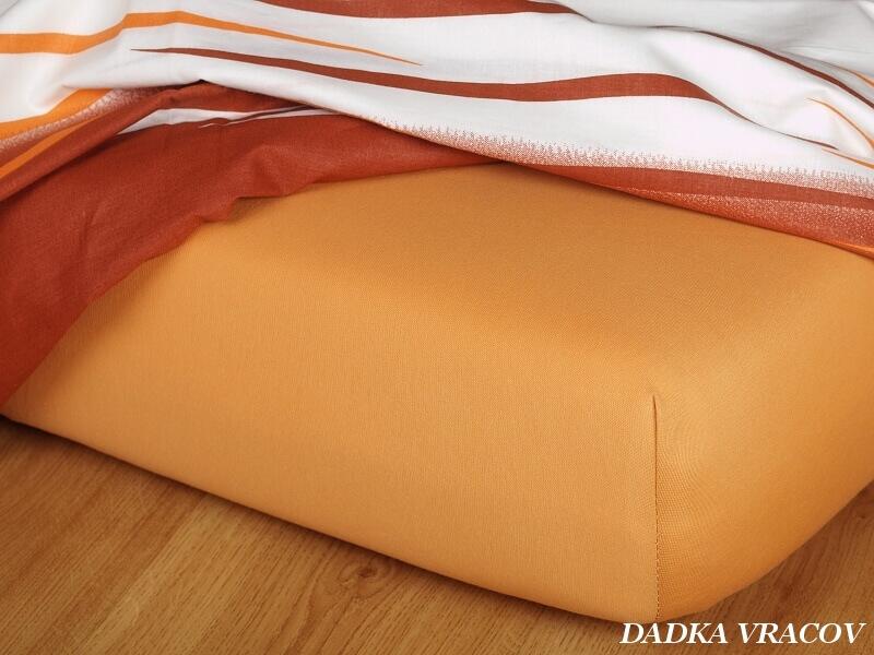 Jersey prostěradlo karamel