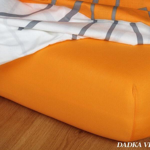 Jersey prostěradlo pomeranč