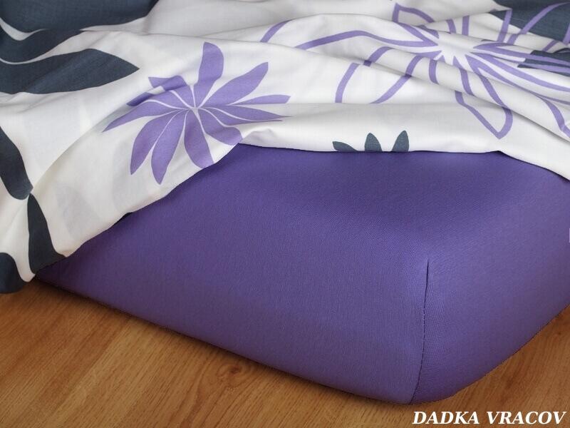 Jersey prostěradlo purpur