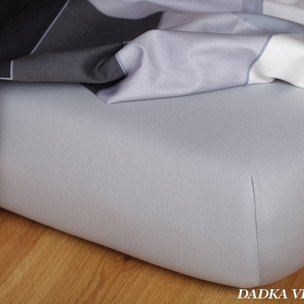 Jersey prostěradlo šedá