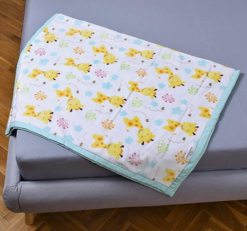 Dětská deka žirafy/tyrkysová dvojitá