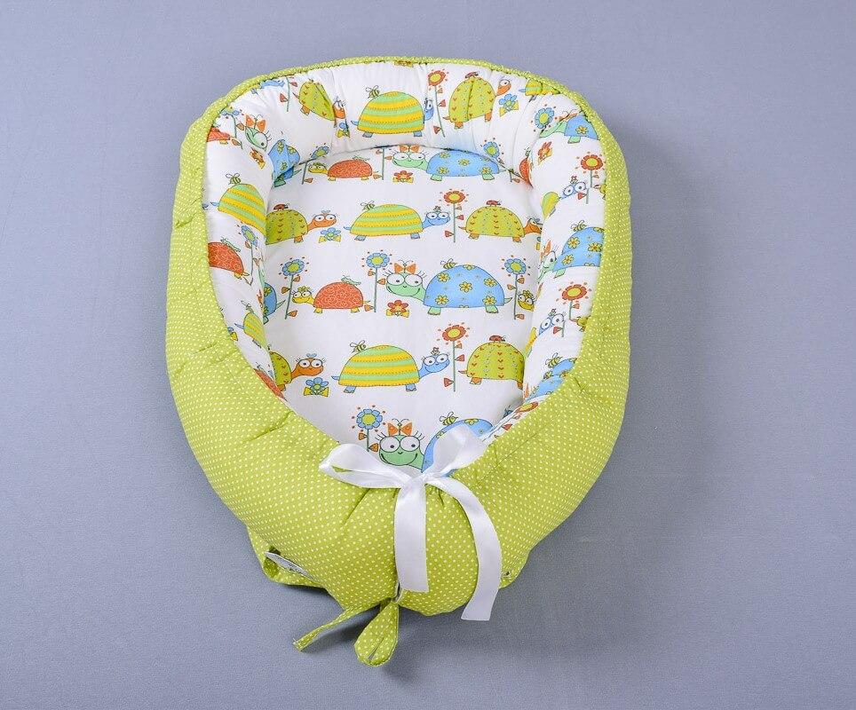 Hnízdečko pro miminko želvičky/zelený puntík