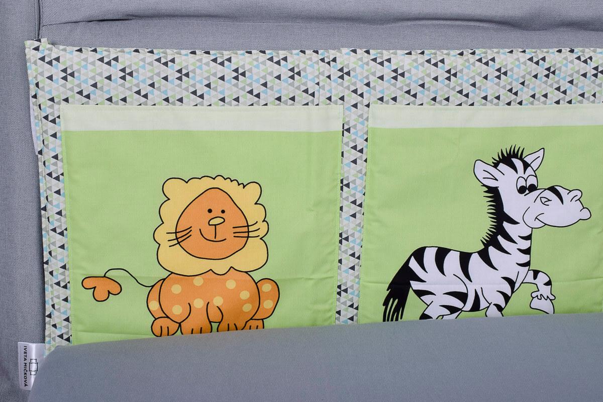 Kapsář za postel zoo zelená