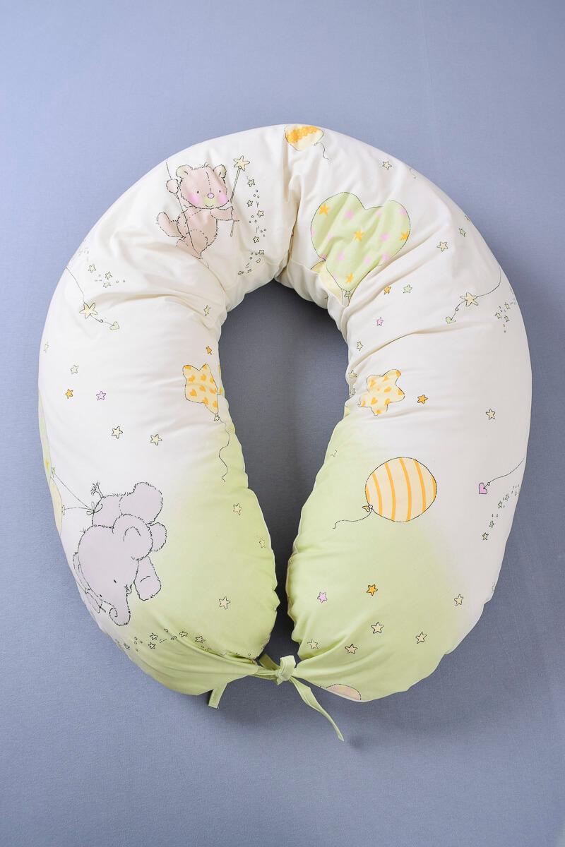 Kojící polštář s povlakem zvířátka s balóny
