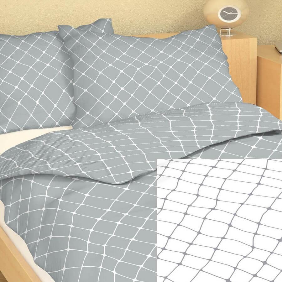 Bavlna kombinace síť šedá/bílá 9415