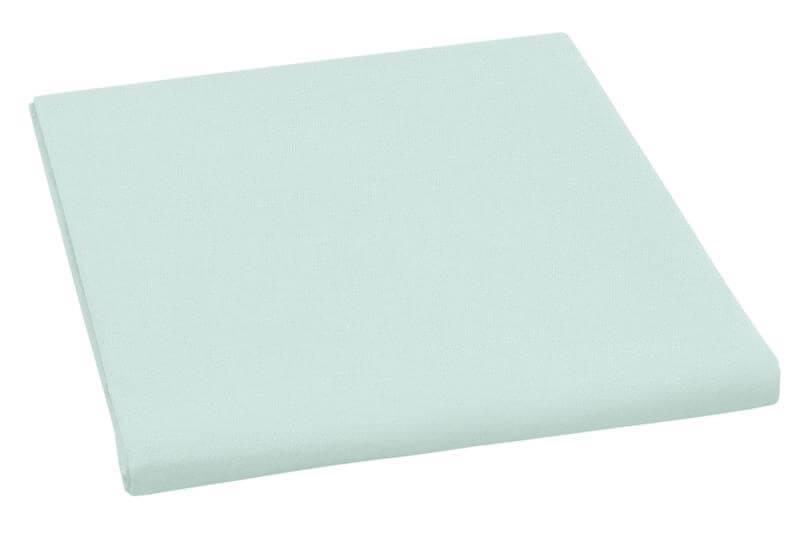 Plátěné prostěradlo plachta mentol 150×230 cm