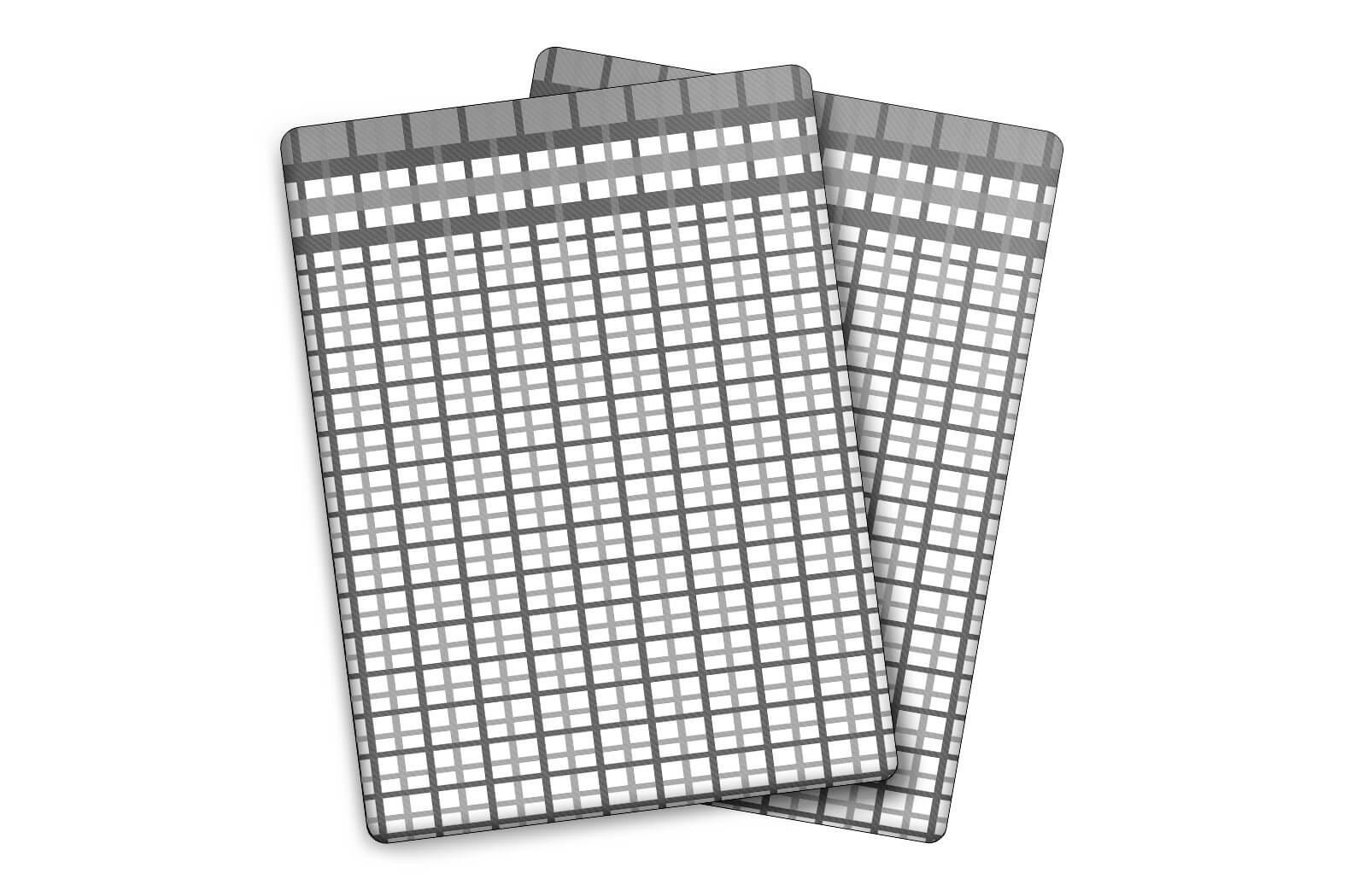 Utěrky Bambus malá kostka šedá – 3 ks v balení