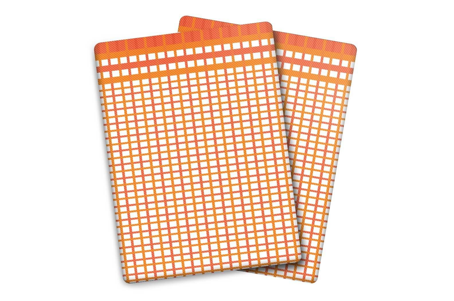 Utěrky Bambus malá kostka oranž-červená – 3 ks v balení