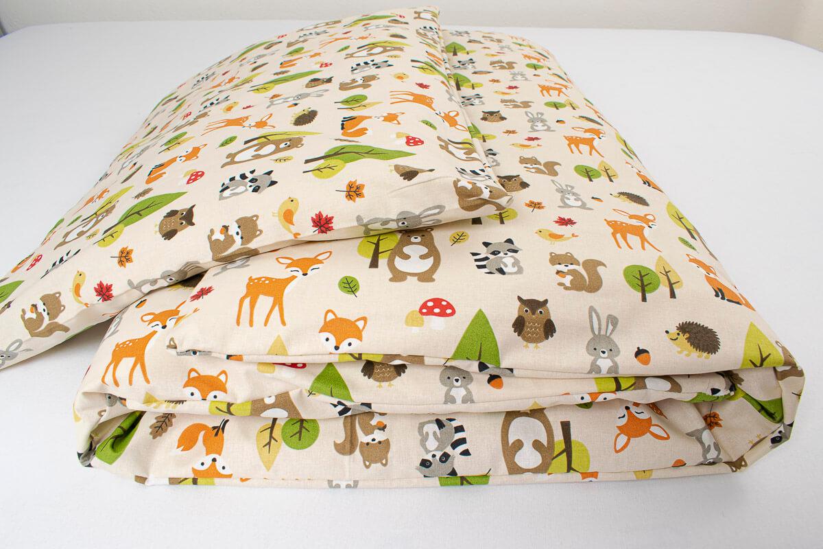 Dětské povlečení bavlna lesní zvířátka