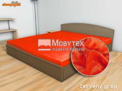 Prostěradlo Mikroflanel červený grep 180×200 cm