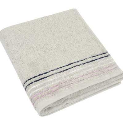 Bavlněný ručník Fialová kolekce 50×100 cm barva bílá káva