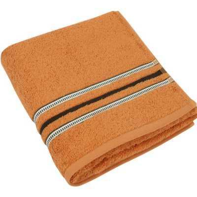 Bavlněný ručník Zelená kolekce 50×100 cm barva cihlová