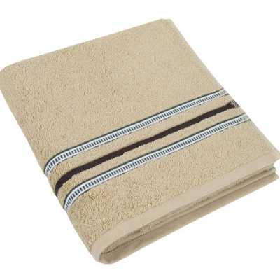 Bavlněný ručník Zelená kolekce 50×100 cm barva béžová