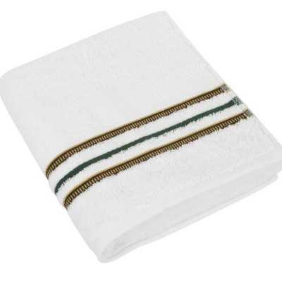 Bavlněná osuška Zelená kolekce 70×140 cm barva bílá