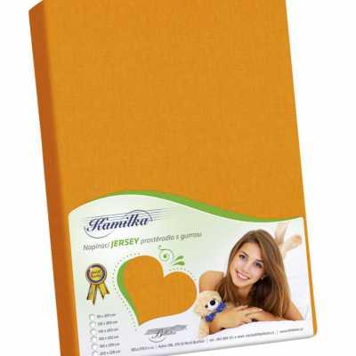 Bavlněné Jersey prostěradlo oranžová Bellatex 140 g