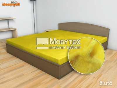 Prostěradlo Mikroflanel žlutá 180×200 cm
