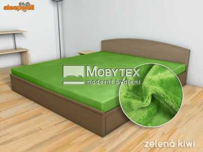 Prostěradlo Mikroflanel zelená kiwi 90×200 cm
