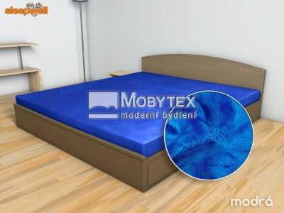 Prostěradlo Mikroflanel tm. modrá 90×200 cm