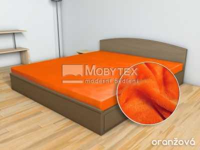 Prostěradlo Mikroflanel oranžová 180×200 cm