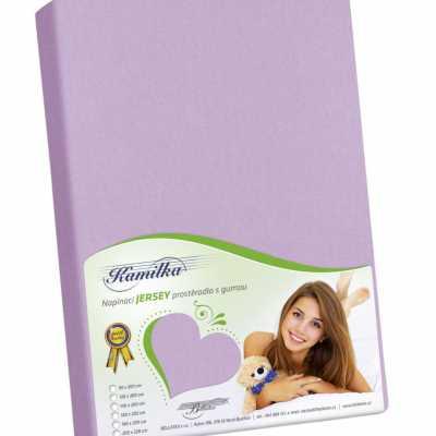 Bavlněné Jersey prostěradlo fialová Bellatex 140 g