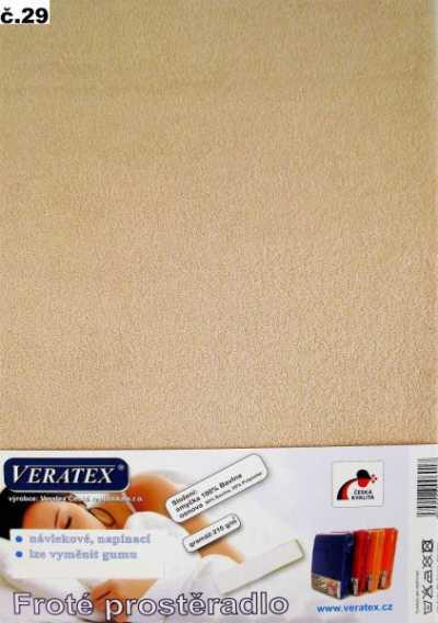 Froté prostěradlo béžová Veratex 210 g