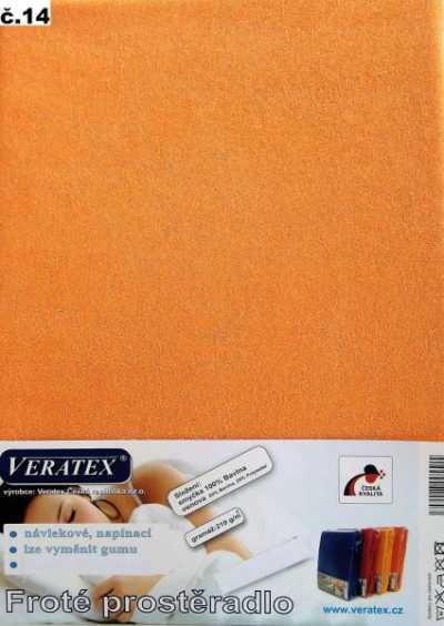 Froté prostěradlo broskvová Veratex 210 g