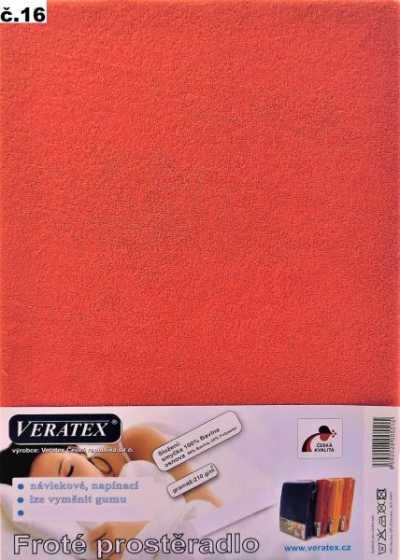 Froté prostěradlo malina Veratex 210 g