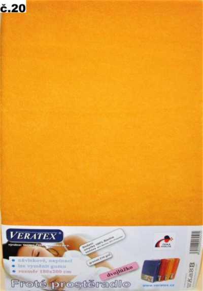 Froté prostěradlo meruňková Veratex 210 g
