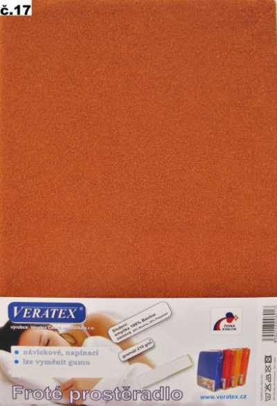 Froté prostěradlo rezavá Veratex 210 g