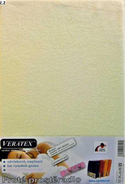 Froté prostěradlo smetanová Veratex 210 g