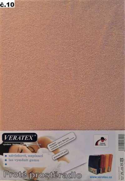 Froté prostěradlo starorůžová Veratex 210 g