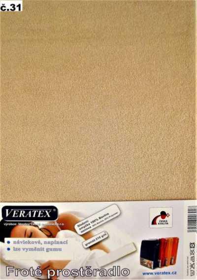 Froté prostěradlo sv. hnědá Veratex 210 g