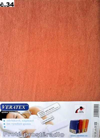 Froté prostěradlo sv. rezavá Veratex 210 g