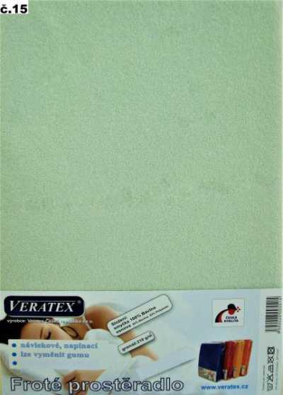 Froté prostěradlo sv. zelená Veratex 210 g