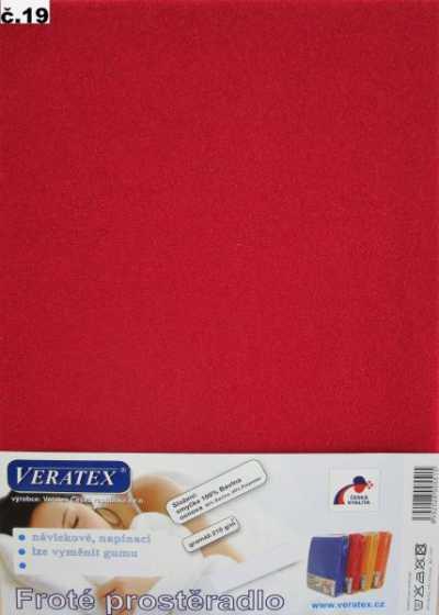 Froté prostěradlo vínová Veratex 210 g