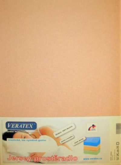 Bavlněné Jersey prostěradlo béžová Veratex 180 g