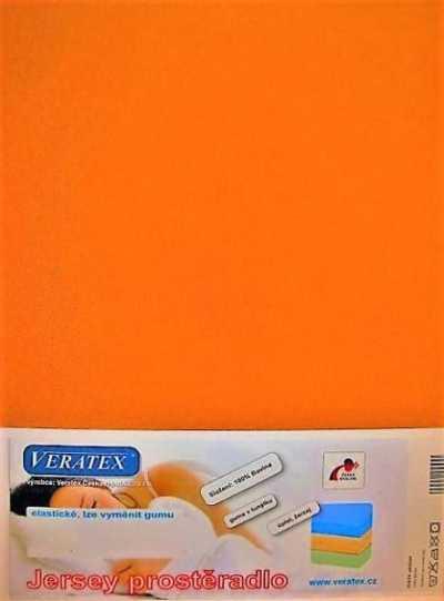 Bavlněné Jersey prostěradlo oranžová Veratex 180 g