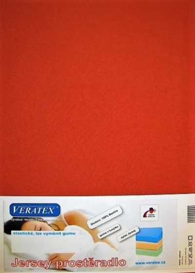 Bavlněné Jersey prostěradlo rezavá Veratex 180 g