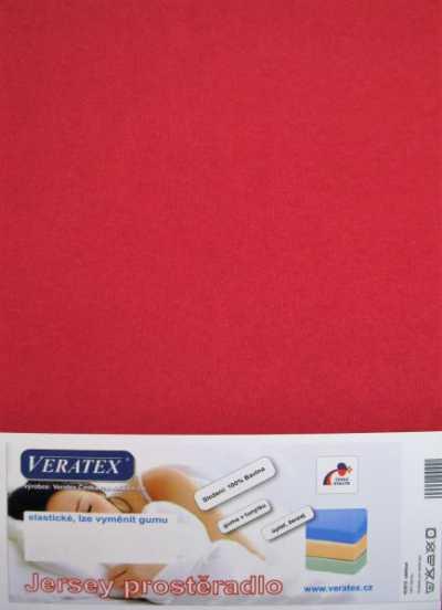 Bavlněné Jersey prostěradlo vínová Veratex 180 g