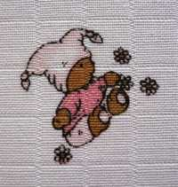 Libštátské tetra osušky Méďa růžový 90×100 cm 1 ks